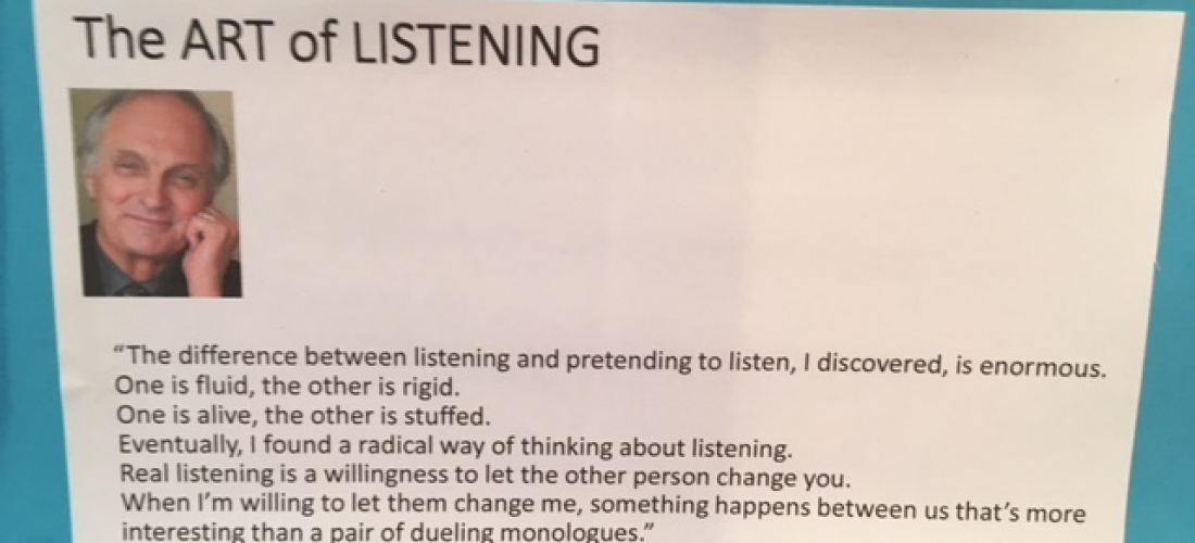 when it comes to listening are you an artist dave walker